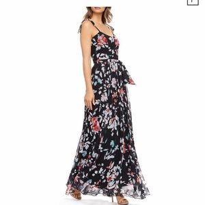 NWT DRESS THE POPULATION Hollie Floral Maxi Dress